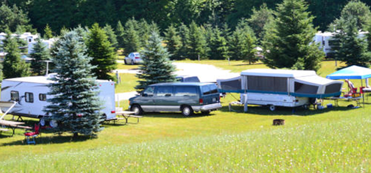 4 fun camping locations in michigan, picture of whispering pines rv resort