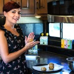 8 tips for cooking in your rv, picture of a women cooking in her rv, rv cooking