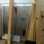 shower time while camping, picture of a camping shower house