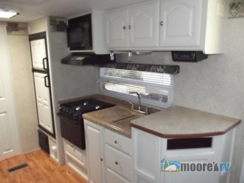 Used 2008 Keystone RV Outback 26RLS Travel Trailer Kitchen