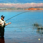 Southwestern Utah has many good fishing waters, even in the desert.