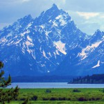 Here is Grand Teton Peak, in all its glory, above Jackson Lake.
