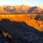 "The view of West Temple from just outside of Zion National Park shows the first three steps of the ""Grand Staircase""."