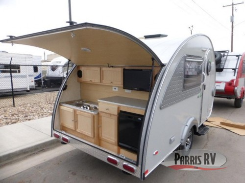 NuCamp TAB Teardrop Trailer Exterior Kitchen
