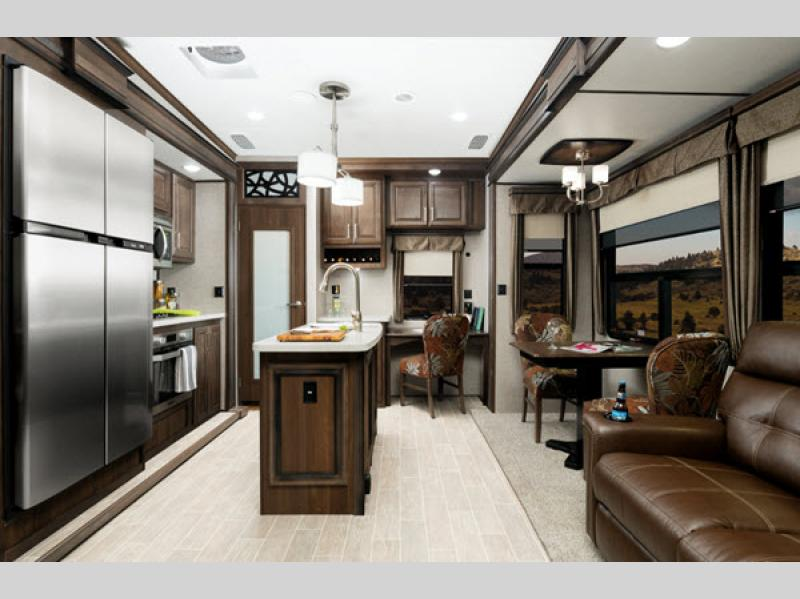 Keystone RV Alpine Fifth Wheel Living Area