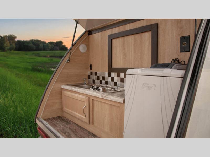 Braxton Creek Bushwhacker Teardrop Trailer Kitchen