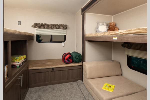 Keystone RV Hideout Interior Bunkhouse