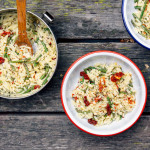 cheesy-asparagus-orzo-one-pot-camping-meal