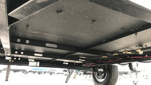 This is the Performax Floor of the Aliner trailers. You can also see the solid steel frame.