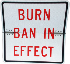 burn ban sign