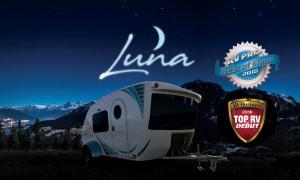 Intech Luna Teardrop Trailer at Night