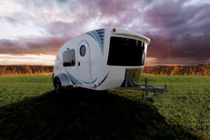 Intech Luna Teardrop Trailer at Sunset