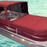 red pontoon enclosure