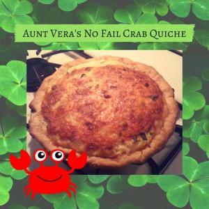 Aunt Vera's No Fail Crab Quiche