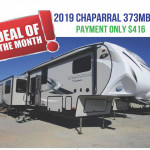 Chaparral 373mbrb fifth wheel