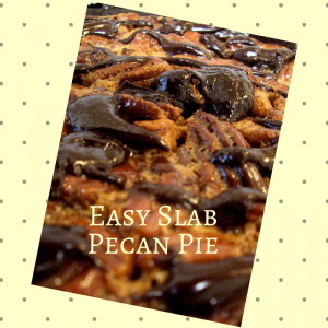 Easy Pecan Slab Pie