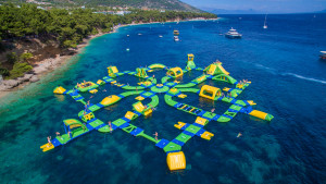 Floating adventure park