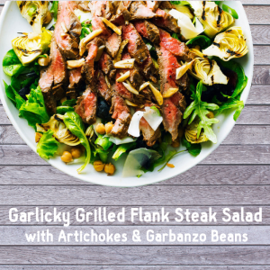 Garlicky Grilled Flank Steak Salad