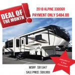Deal of the Month – 2018 Alpine 3300GR