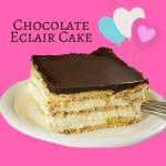 Easy No Bake Chocolate Eclair Cake
