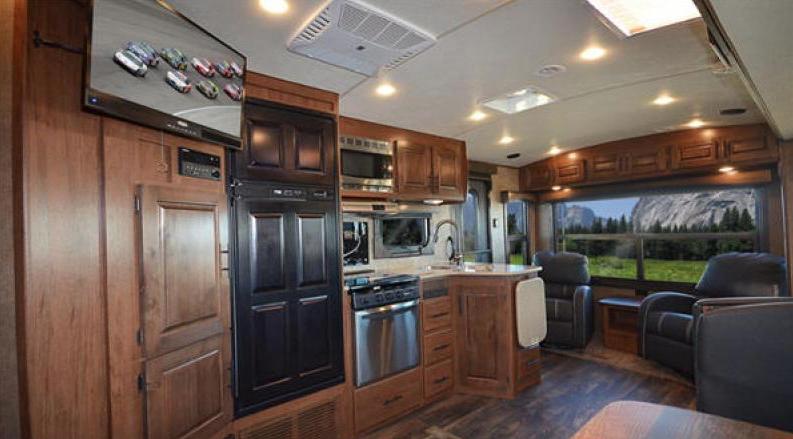 titanium travel trailer kitchen