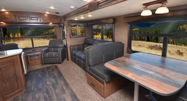 living room titanium travel trailer