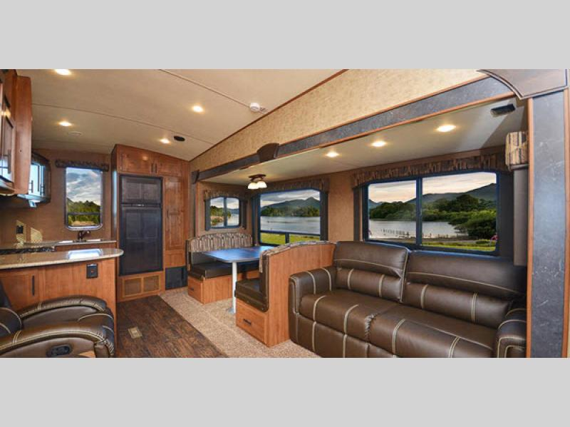 living room glacier peak mountain series fifth wheel