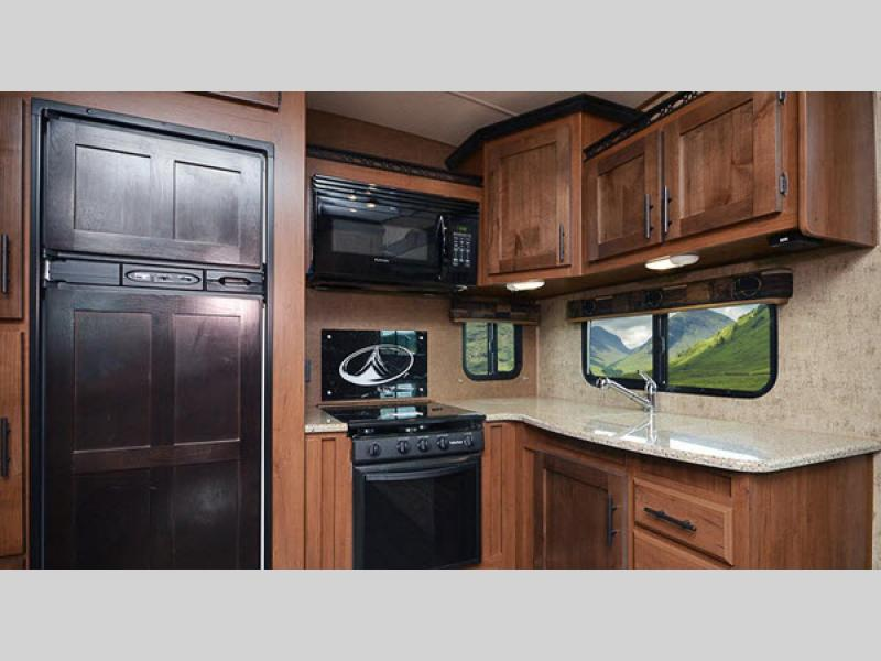 kitchen in glacier peak fifth wheel