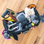 Tool kit on wood floor