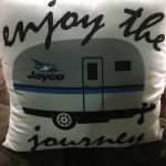 enjoy the journey pillow