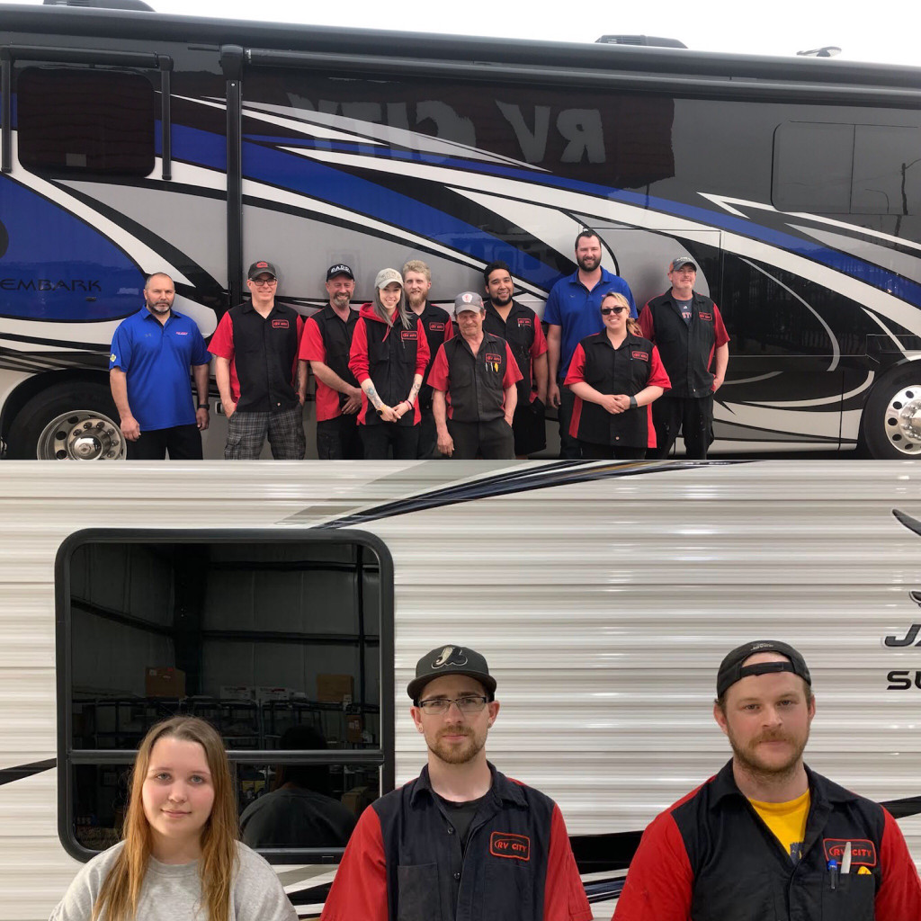 Group Photo of our RV Technicians