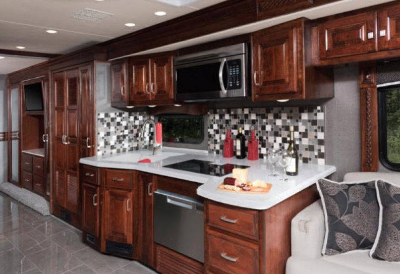 kitchen in endeavor motorhome