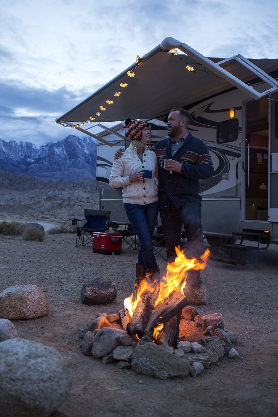 Couple RVing