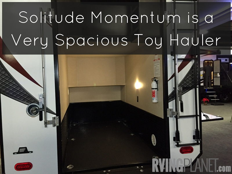 Solitude Momentum is a Very Spacious Toy Hauler