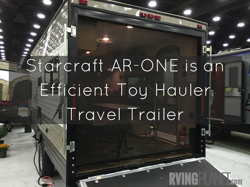 Starcraft AR-ONE is an Efficient Toy Hauler Travel Trailer