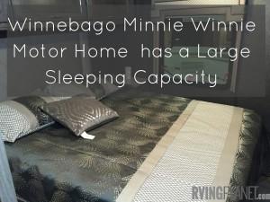 Winnebago Minnie Winnie Motor has a Large Sleeping Capacity(2)