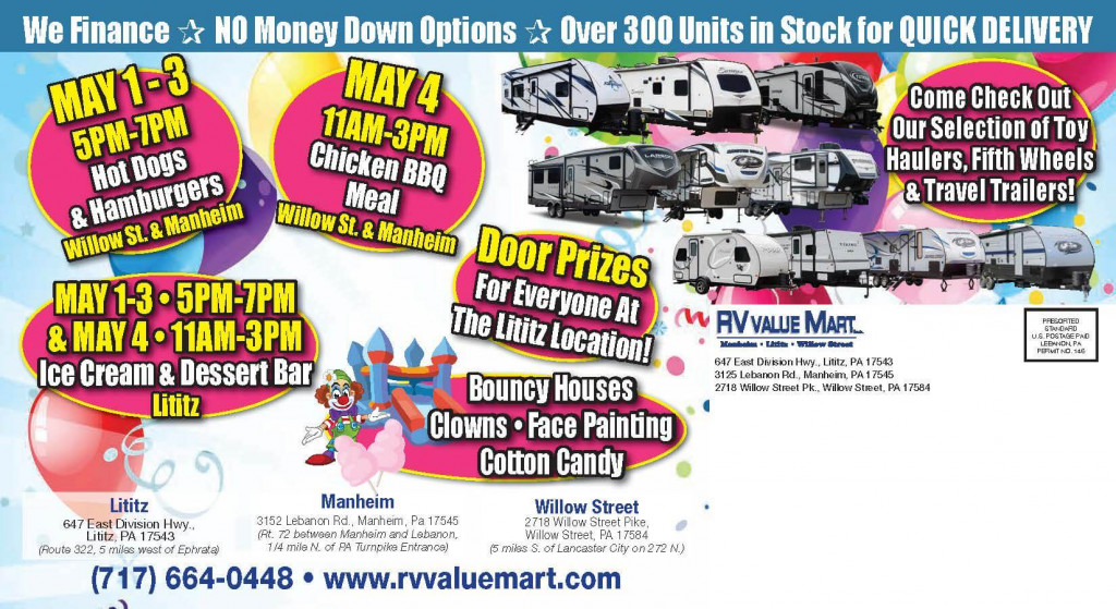 RV Sale Event Open House Location Details