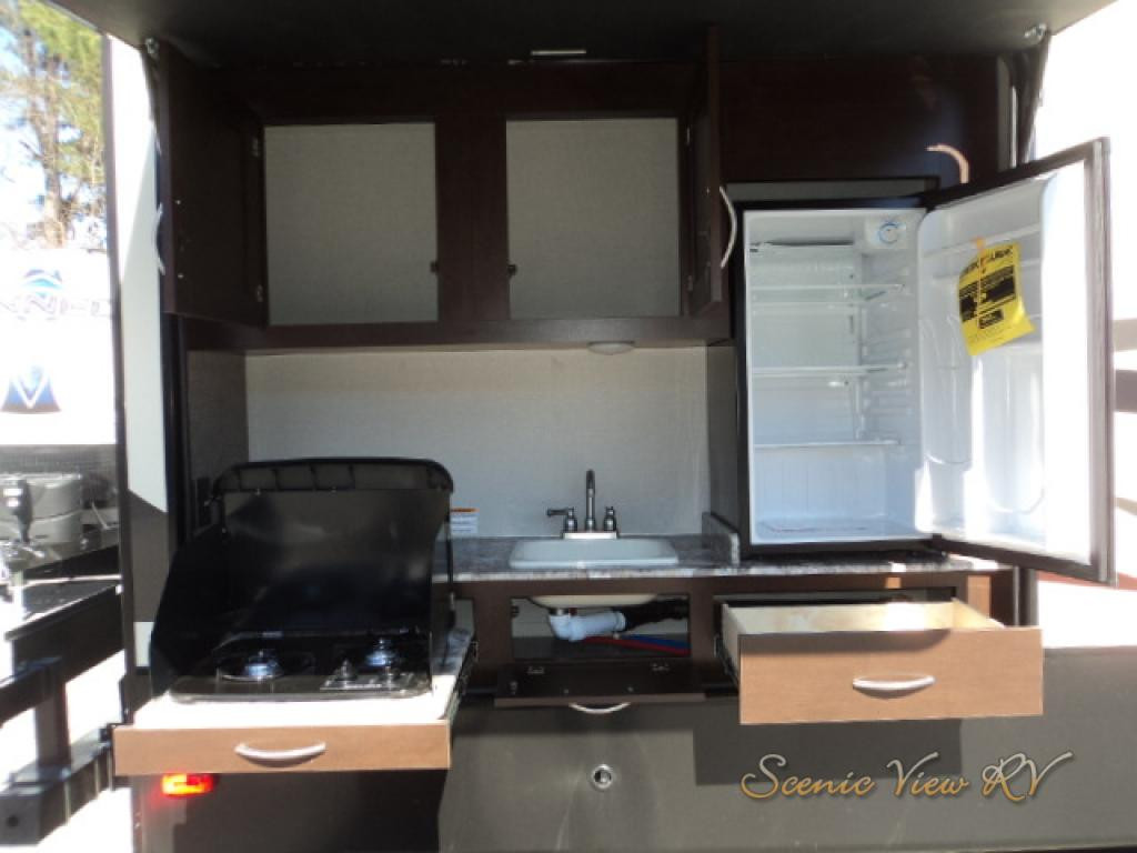Fifth wheels review KZ outdoor kitchen