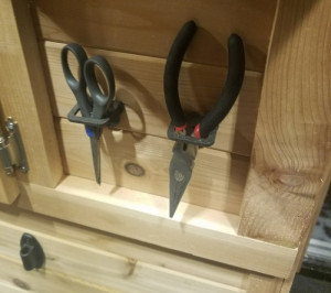 Pliers, Scissors & Scoop Holder For Fish House