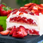 No-Bake Strawberry Shortcake Icebox Cake