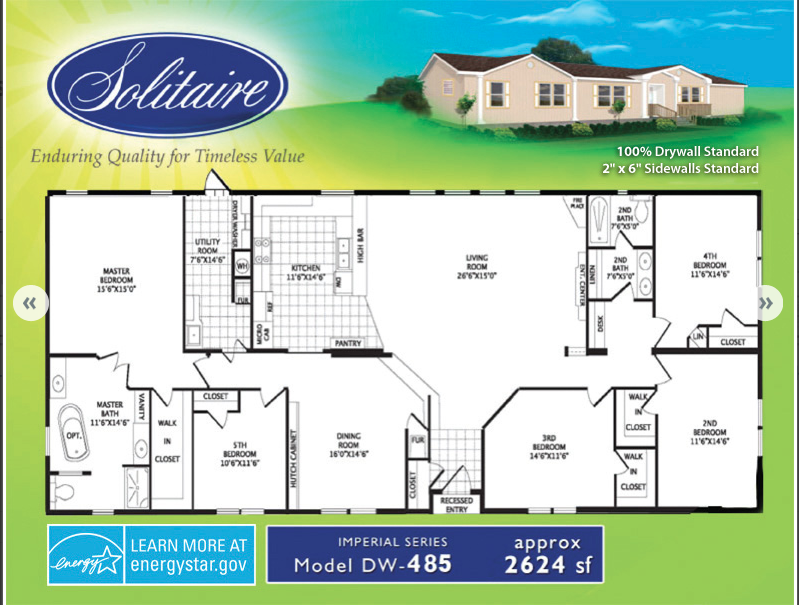 double wide floorplan 485