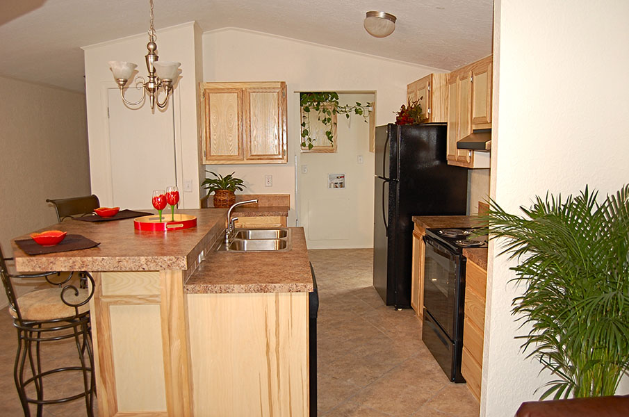 Double Wide Manufactured Home Kitchen Remodel