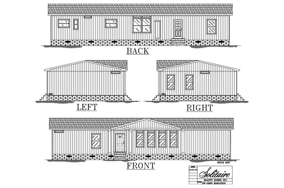 GE68 Doublewide Manufactured Home Review elevation