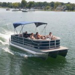 Enjoy the water on a Crest Pontoon boat!