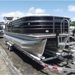 The Crest III Pontoon boat.