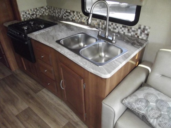 Pursuit Class A Motorhome kitchen