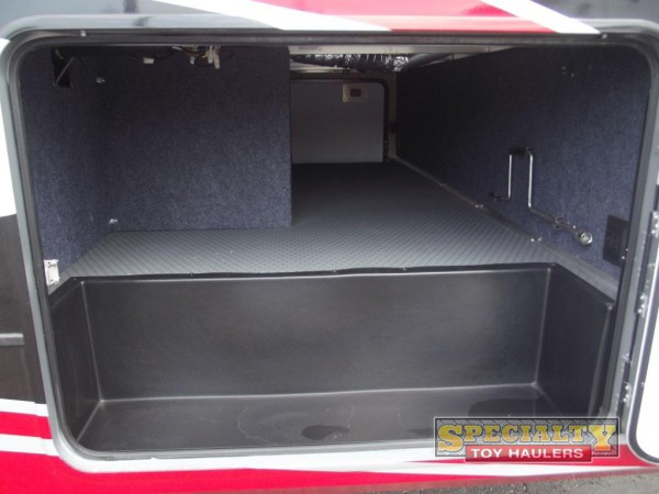 XLR Thunderbolt toy hauler storage space