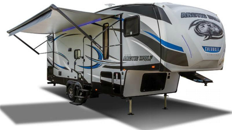 exterior cherokee arctic wolf fifth wheel