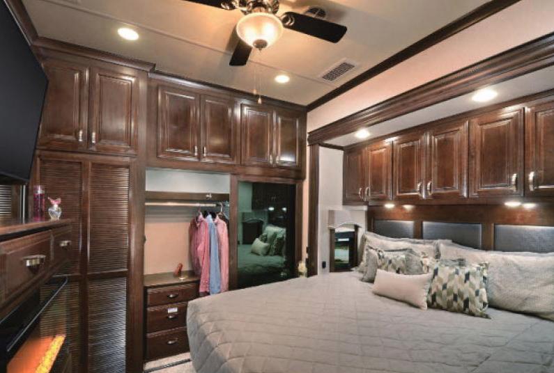 bedroom in riverstone fifth wheel