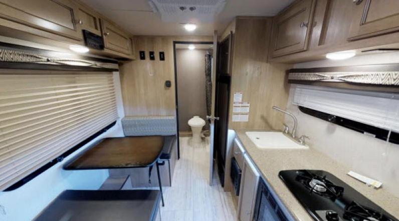 real lite travel trailer storage